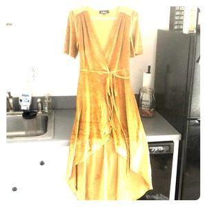 High low velvet dress
